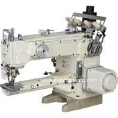 加长直驱自动剪线纵筒型针五线双面饰绷缝机