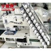 厂家供应12针拉腰机全新服装特种专机窗帘杣多针车VC008款多针机