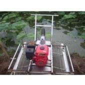 汽油型船式挖藕机 水产养殖业莲藕马蹄收获处理设备 伤藕率低