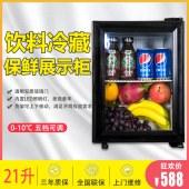捷盛21家用迷你小型冷藏立式展示冰柜商用冰箱保鲜冷柜食品留样柜