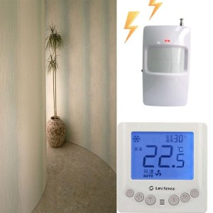 莱胜斯LifesenseLT1001PIR节能FCU温控器人体红外线传感器