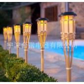 太阳能火把灯 竹子太阳能灯 solar bamboo torch light 火把灯