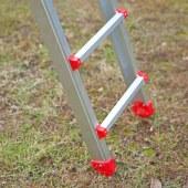 厂家直销铝合金梯 家用安全不倒梯伸缩折叠梯 安防梯户外不倒梯